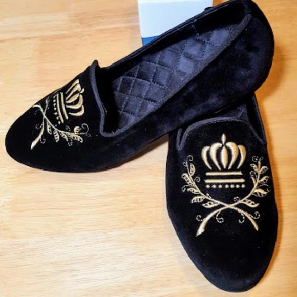 54c610c04ce Vionic Romi Velvet Embroidered Loafer Black Sz 9.5.  M 5b610f270cb5aa1c45d126da